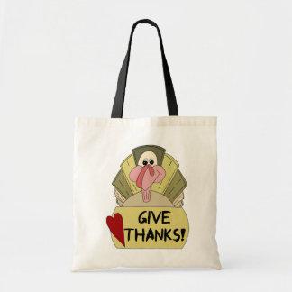 Cartoon Turkey Bag  - Give Thanks!
