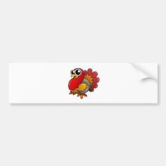 Cartoon Turkey Car Bumper Sticker