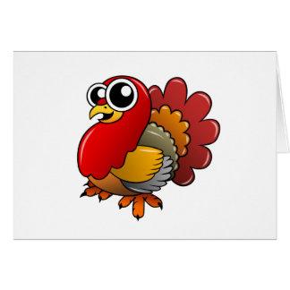 Cartoon Turkey Card