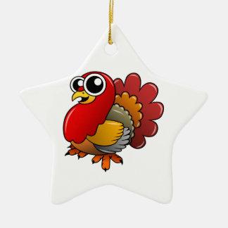 Cartoon Turkey Ceramic Ornament