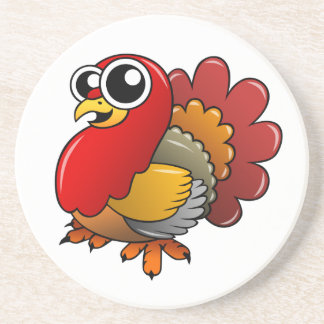 Cartoon Turkey Coaster