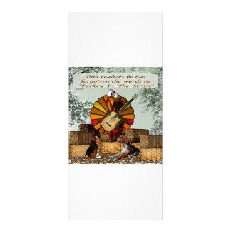 Cartoon Turkey Forgot words Beagle hay Rack Card