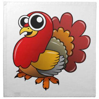 Cartoon Turkey Napkin