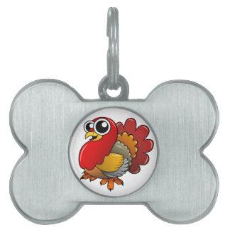 Cartoon Turkey Pet Tag