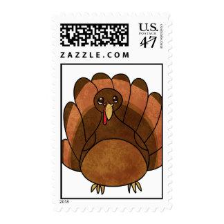 Cartoon Turkey Postage