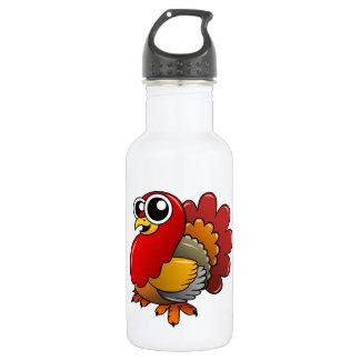 Cartoon Turkey Stainless Steel Water Bottle