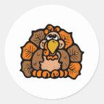 Cartoon Turkey Stickers