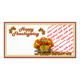 Cartoon Turkey Tourist  Photo Frame Card