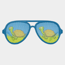 Cartoon Turtle Aviator Sunglasses