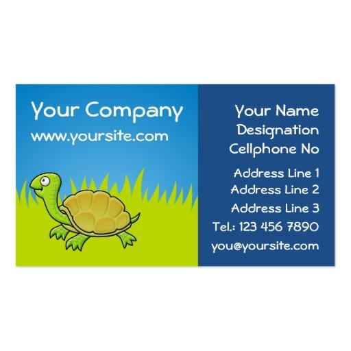 Cartoon turtle business card zazzle for Cartoon business cards