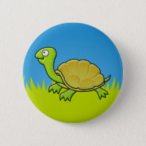 Cartoon Turtle Button