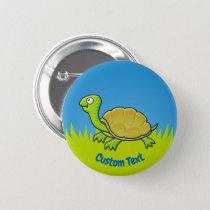 Cartoon Turtle Button