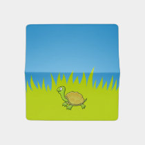 Cartoon Turtle Checkbook Cover