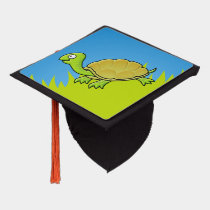 Cartoon Turtle Graduation Cap Topper