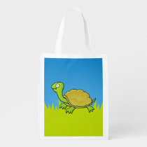 Cartoon Turtle Grocery Bag