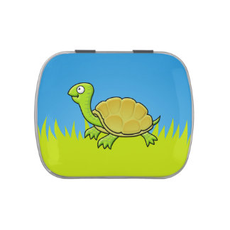Cartoon Turtle Jelly Belly Tins