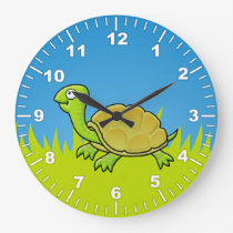 Cartoon Turtle Large Clock