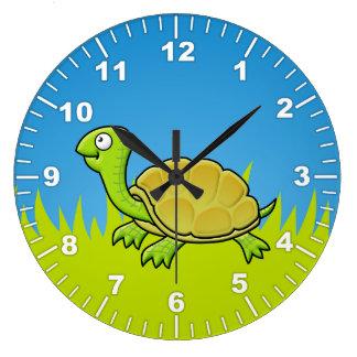 Cartoon Turtle Large Clock