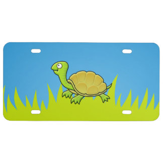 Cartoon Turtle License Plate