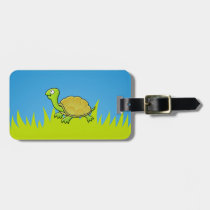 Cartoon Turtle Luggage Tag