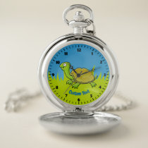 Cartoon Turtle Pocket Watch
