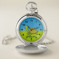 Cartoon Turtle Pocket Watch