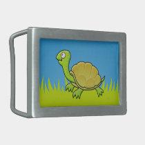 Cartoon Turtle Rectangular Belt Buckle