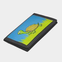 Cartoon Turtle Tri-fold Wallet