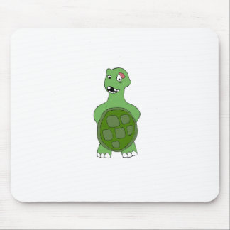 Cartoon Turtle With Black Eye Mouse Pad