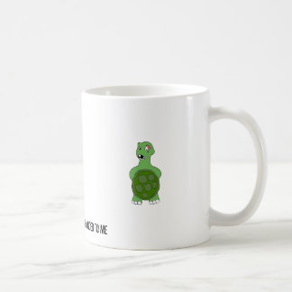 Cartoon Turtle With Black Eye Coffee Mugs