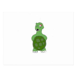 Cartoon Turtle With Black Eye Postcard