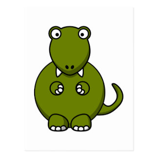 Cartoon tyannosaurus rex postcard