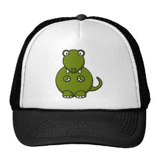 Cartoon tyannosaurus rex trucker hat