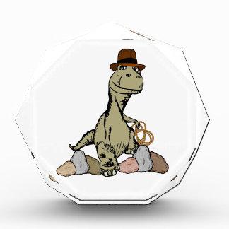 Cartoon Tyrannosaurus Dinosaur Explorer Acrylic Award