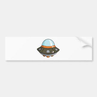 Cartoon U.F.O./Flying Saucer Bumper Sticker