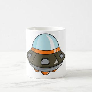 Cartoon U.F.O./Flying Saucer Coffee Mug