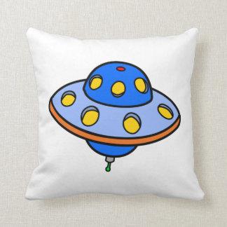 Cartoon UFO Flying Saucer Pillow