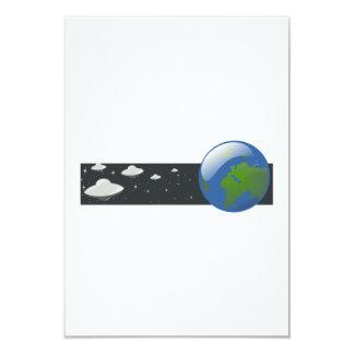 Cartoon UFO Invasion Card