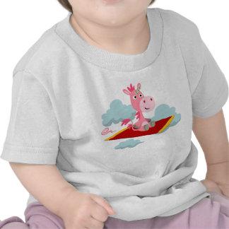 Cartoon Unicorn's Magic Carpet Ride Baby T-Shirt