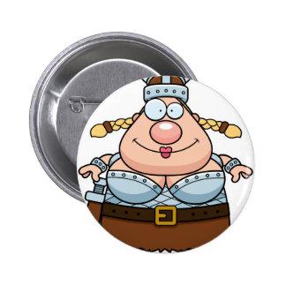 Cartoon Valkyrie 2 Inch Round Button