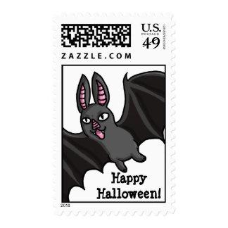 Cartoon Vampire Bat Stamp