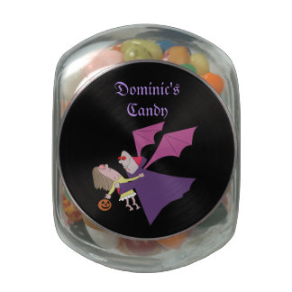 Cartoon Vampire Personalized Glass Candy Jars