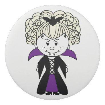 Halloween Themed Cartoon Vampiress Eraser