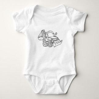 Cartoon Vehicle Bulldozer Digger Baby Bodysuit