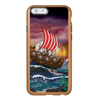 Cartoon Viking Landing Party. Incipio Feather Shine iPhone 6 Case