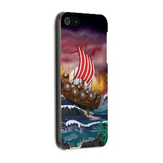 Cartoon Viking Landing Party. Metallic Phone Case For iPhone SE/5/5s