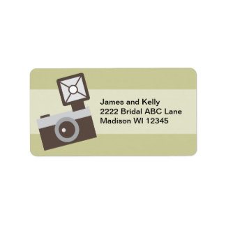 Cartoon Vintage Camera Label
