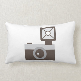Cartoon Vintage Camera Throw Pillow