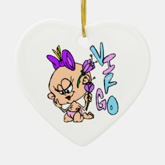Cartoon Virgo Ceramic Ornament
