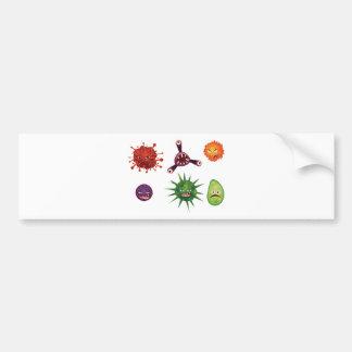 Cartoon Viruses Bumper Sticker
